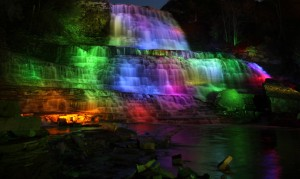 Albion Falls illumination on Victoria Day